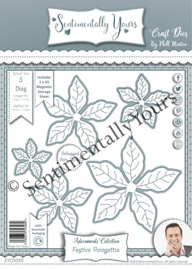 Phill Martin Sentimentally Yours Adornments Collection : Festive Poinsettia