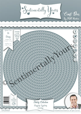Phill Martin Sentimentally Yours Elegant Eyelet Circle Dies