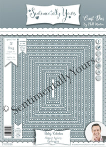 Phill Martin Sentimentally Yours Elegant Eyelet Rectangle Dies