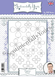 Phill Martin Sentimentally Yours A5 Stamp Set -  Elegance Flower