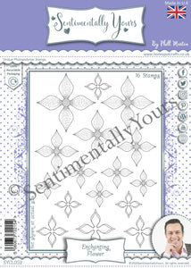 Phill Martin Sentimentally Yours A5 Stamp Set -  Enchanting Flower