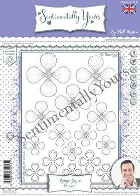 Phill Martin Sentimentally Yours A5 Stamp Set -  Romantique Flower