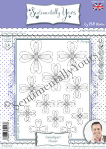 Phill Martin Sentimentally Yours A5 Stamp Set -  Sweetheart Flower