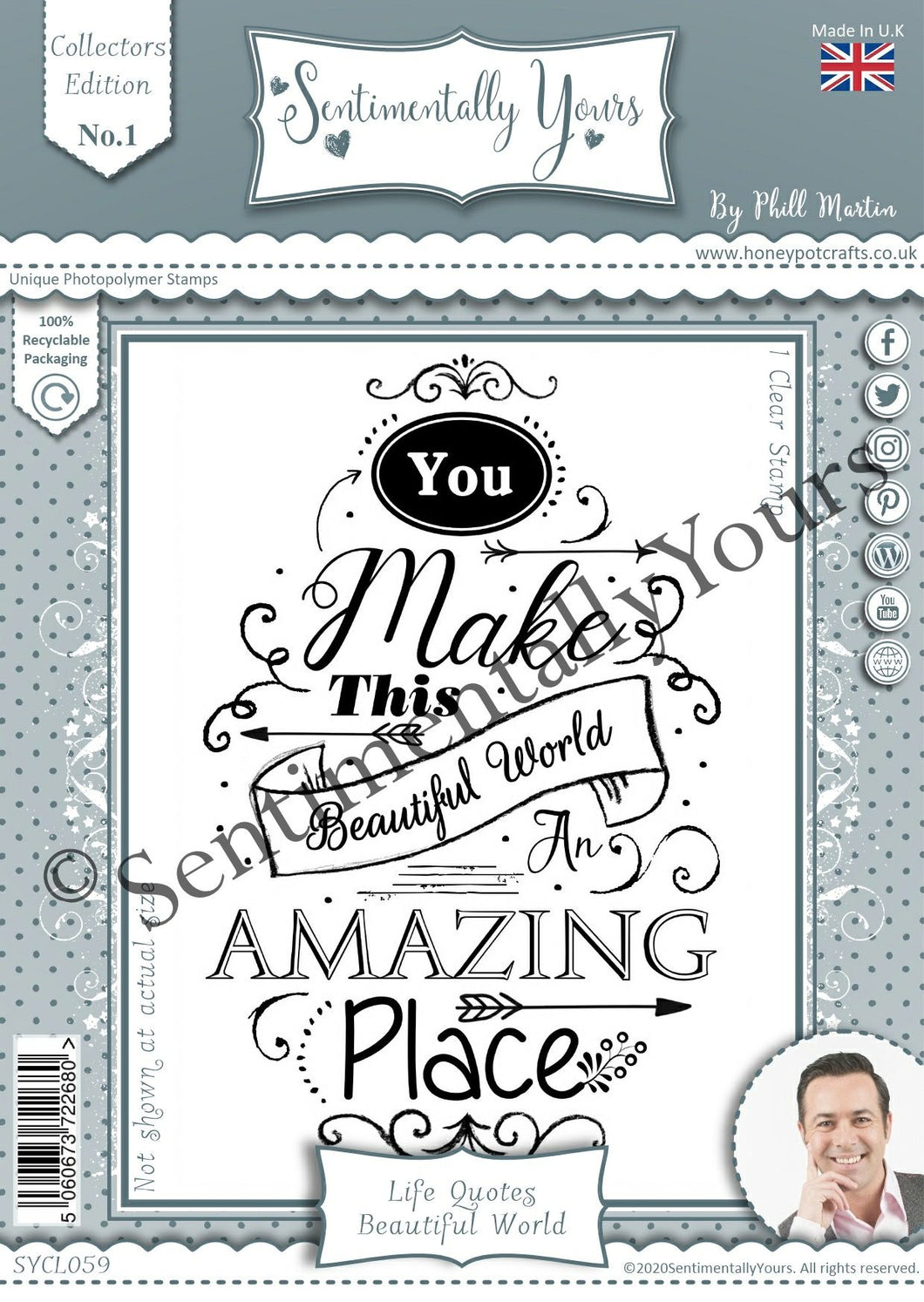 Phill Martin Sentimentally Yours A6 Collection Edition - Life Quotes : Beautiful World