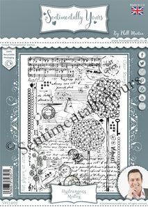 Phill Martin Sentimentally Yours A6 Clear Medley Stamp - Hydrangeas Medley