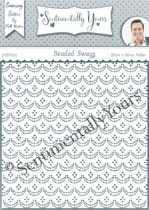 Phill Martin Sentimentally Yours 8 x 8 Embossing Folder - Beaded Swags