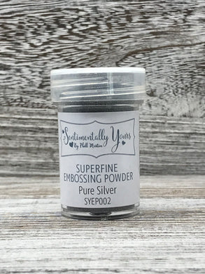 Sentimentally Yours Superfine Embossing Powder - Pure Silver