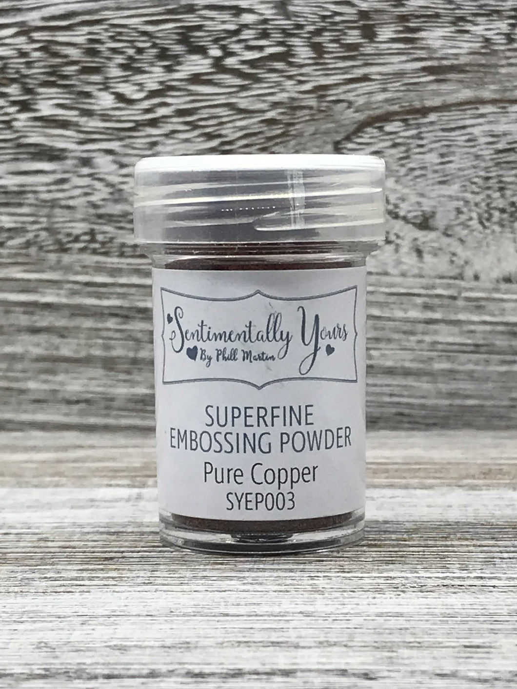 Sentimentally Yours Superfine Embossing Powder - Pure Copper