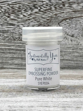 Sentimentally Yours Superfine Embossing Powder - Pure White