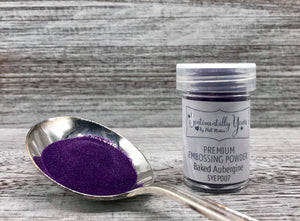 Sentimentally Yours Premium Embossing Powder - Baked Aubergine
