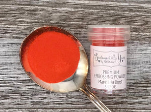 Sentimentally Yours Premium Embossing Powder - Mandarin Burst