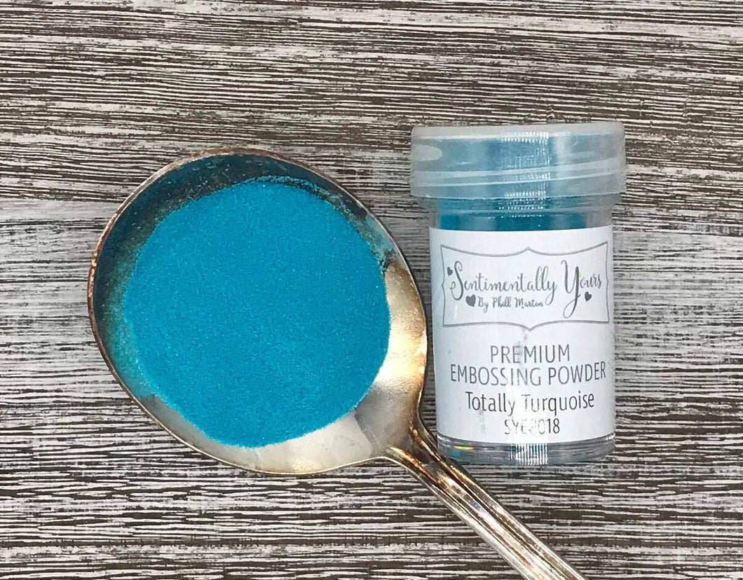 Sentimentally Yours Premium Embossing Powder - Totally Turquoise
