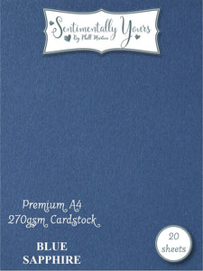 Phill Martin Sentimentally Yours Premium Cardstock - Blue Sapphire
