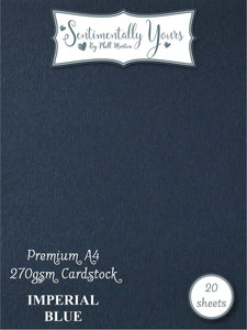 Phill Martin Sentimentally Yours Premium Cardstock - Imperial Blue