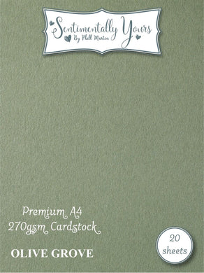Phill Martin Sentimentally Yours Premium Cardstock - Olive Grove