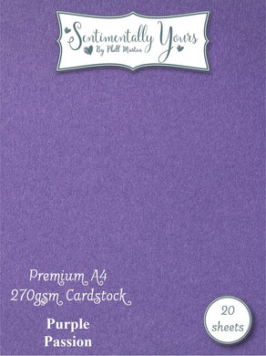 Phill Martin Sentimentally Yours Premium Cardstock - Purple Passion