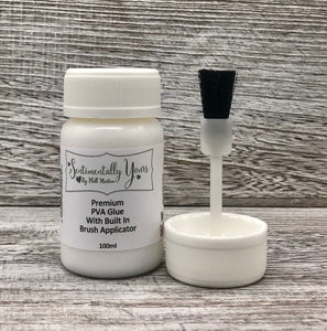 Sentimentally Yours Premium PVA Glue - 100ml with Built-In Brush Applicator