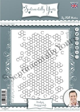 Sentimentally Yours A6 Rubber Stamp - Broken Honeycomb