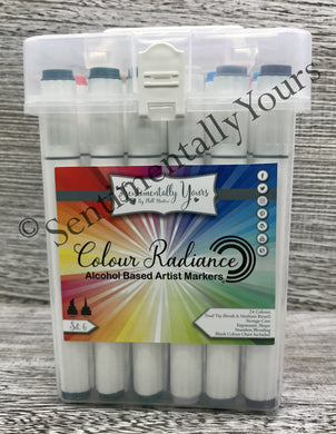 Sentimentally Yours Colour Radiance Alcohol Markers - Set 6