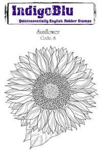 IndigoBlu A6 Red Rubber Stamp - Sunflower