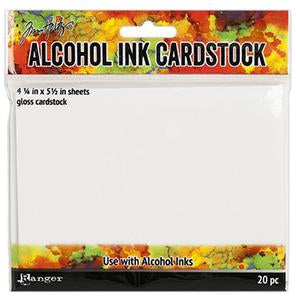 Alcohol Ink Gloss Cardstock 20 Pieces