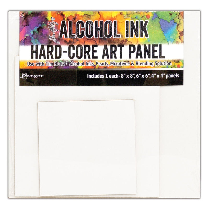 Alcohol Ink Surfaces - Hard Core Art Panels Squares Mixed Pack