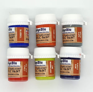 IndigoBlu Artist's Translucent Acrylic Paint 20ml - Set 1