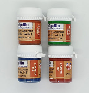 IndigoBlu Artist's Translucent Acrylic Paint 20ml - Set 3