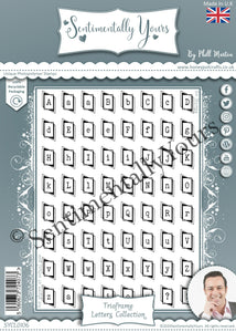 Phill Martin Sentimentally Yours A5 Stamp Set -  Trioframe Letters Collection