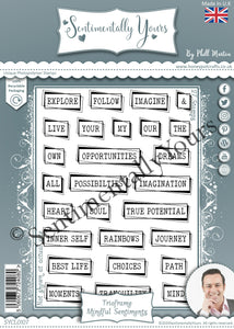 Phill Martin Sentimentally Yours A5 Stamp Set -  Trioframe Mindful Sentiments