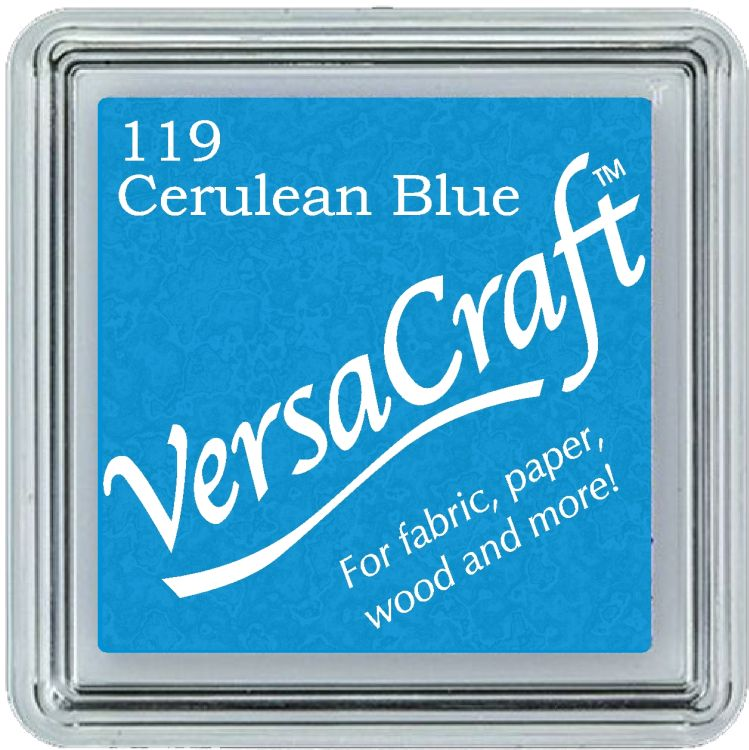 Tsukineko Small VersaCraft Ink Pad - Cerulean Blue