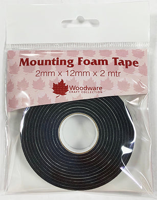 Woodware Mounting Foam Tape Black - 2mm x 12mm x 2m