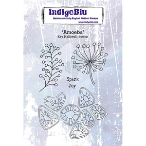 IndigoBlu Amoeba A6 Red Rubber Stamp Set