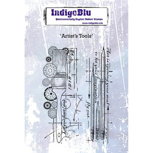 Indigoblu Artist's Tools A6 Red Rubber Stamp Set
