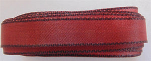 "Solid Two Tone Ribbon 3/8"" - Dark Red 5m"
