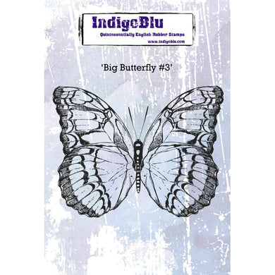 IndigoBlu Big Butterfly #3 A6 Red Rubber Stamp