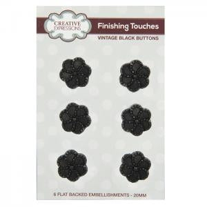 Creative Expressions Vintage Black Buttons