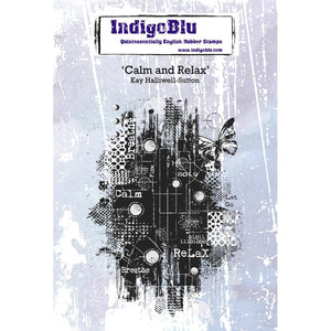 Indigoblu Calm and Relax A6 Red Rubber Stamp