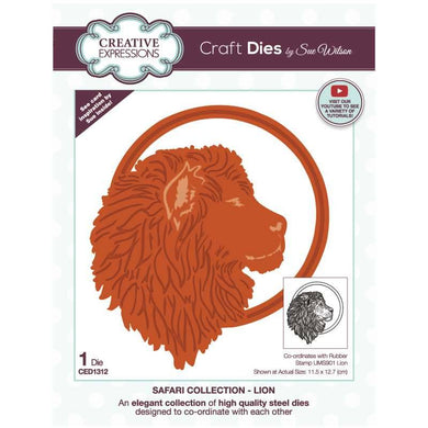 Dies by Sue Wilson Safari Collection - Lion