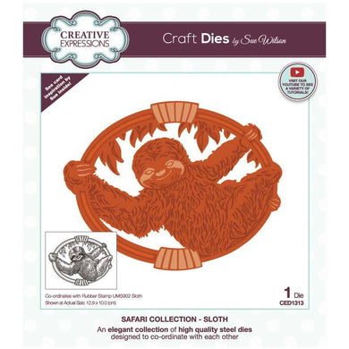 Dies by Sue Wilson Safari Collection - Sloth