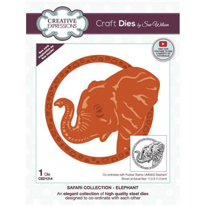 Dies by Sue Wilson Safari Collection - Elephant