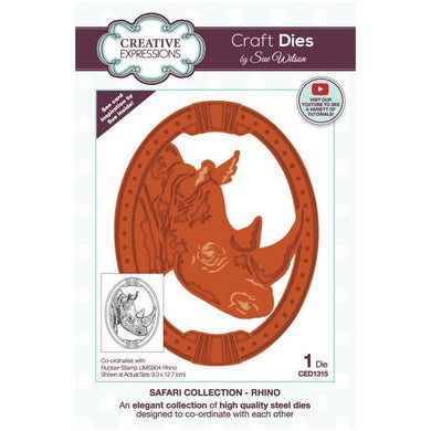 Dies by Sue Wilson Safari Collection - Rhino