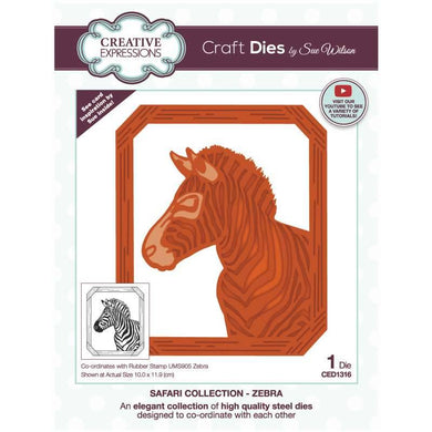 Dies by Sue Wilson Safari Collection - Zebra