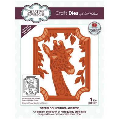 Dies by Sue Wilson Safari Collection - Giraffe