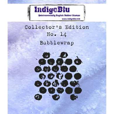Indigoblu Collector's Edition Red Rubber Stamp - No.14 Bubble Wrap