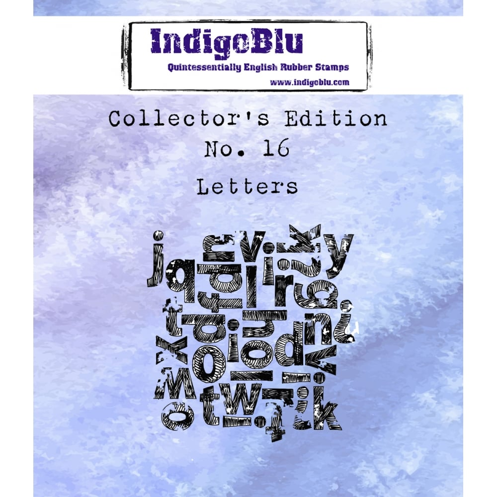 Indigoblu Collector's Edition Red Rubber Stamp - No.16 Letters