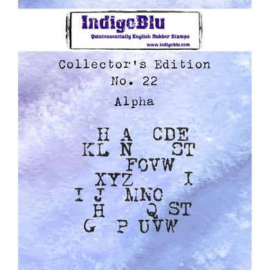 Indigoblu Collector's Edition Red Rubber Stamp - No.22 Alpha