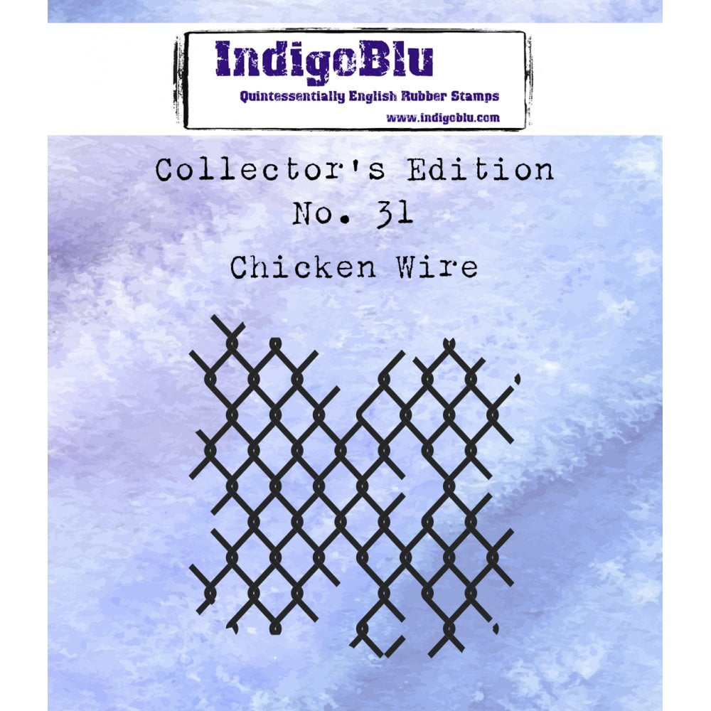 Indigoblu Collector's Edition Red Rubber Stamp - No.31 Chicken Wire