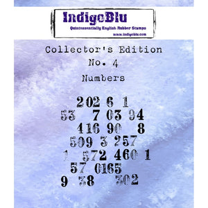 Indigoblu Collector's Edition Red Rubber Stamp - No.4 Numbers