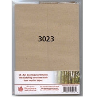 Woodware Pack of 12 Tall Card Blanks and Envelopes - Recycled Paper
